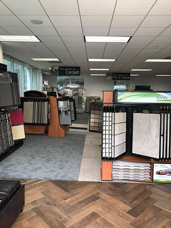 Newly remodeled showroom